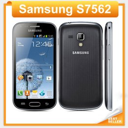 Wholesale S7562 Galaxy S Duos - S7562 Original phone Samsung galaxy s duos s7562 dual sim cards GSM 3G 4.0'' Wifi GPS 5MP Camera Unlocked Cell phone Refurbished