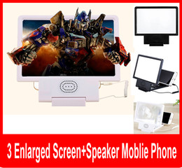 Wholesale Angle Speakers - Angle-Adjustable Eyeshield 3D Enlarged Screen Mobile Phone Video Frequency Amplifier with Speaker englarged screen with retail box