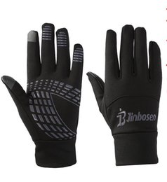 Wholesale Thermal Cycle Gloves - Windproof Outdoor Sports Full Finger Bicycle Bike Cycling Gloves Winter Fleece Thermal Warm Touch Screen Long Gloves