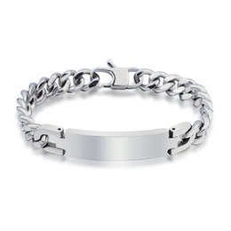 Wholesale Mens Heavy Stainless Steel Chain - Wholesale-Free Shipping Hot Sale The New Punk Style 316L Stainless Steel Mens Bracelet Heavy Metal Chain Jewelry Bracelets For Men YK2049