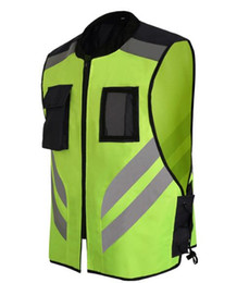 Wholesale Riding Sport Vest - Low cost sale New high light Sports safety warning vest fluorescent riding clothes motorcycle reflective vests Reflective jackets