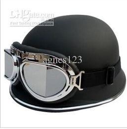 Wholesale Top Half Helmets - AK FO German helmet electric motorcycle helmet Harley helmet half send goggles top sale free shipping