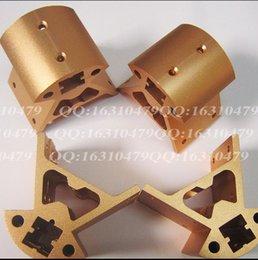 Wholesale Golden Motor - 3 D printer parts DeltRostock kossel k800 3Dprinter all metal motor mount bottom frame+top frame kit aluminum alloy golden color