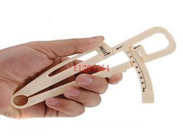 Wholesale Measuring Guide - Free shipping NEW Slim Guide Skinfold Caliper Body Fat Measure Mass Fitness Weight Loss, 100pcs lot