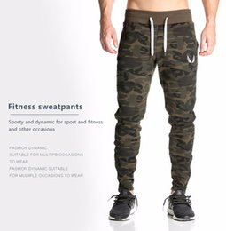 Wholesale gasp pants - 2017 NEW sweatpants Men's gasp workout bodybuilding clothing casual camouflage sweatpants joggers pants skinny trousers hot