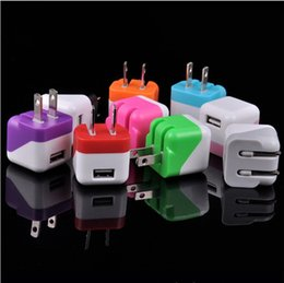 Wholesale Power Plug Types - Universal Portable Mini Type Foldable Folding EU US Plug USB Home AC Power Adapter Wall Charger Charging For iPhone 4 4S 5C 5S iPad 5 4 Air