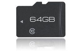 Memória micro câmera sd on-line-Cartão Micro SD de 64 GB Classe 10 nonbrand 64 GB TransFlash Cartão de Memória SD Cartão TF com Adaptador + Embalagem de Varejo para Telefones Câmeras Tablet PCs