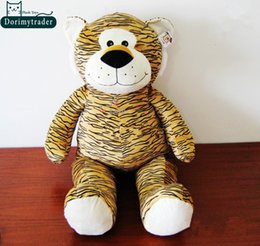 Wholesale Stuffed Tigers Free Shipping - Dorimytrader Hot Item 39''   100cm Lovely Stuffed Soft Plush Giant Cartoon Tiger Toy, Nice Gift for Kids and Friends, Free Shipping DY60717