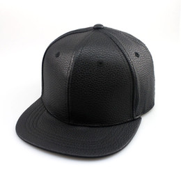 Wholesale Biker Balls - Wholesale-winter PU Leather Baseball Cap Biker Trucker outdoor Sports Hats For Men women hats and caps wholesale