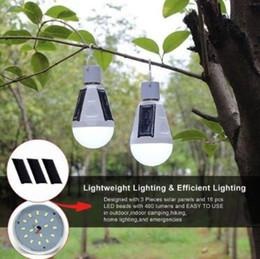 Wholesale Led Lights Daylight Bulbs - E27 12W Solar Lamp 85-265V Energy Saving Light LED Intelligent Lamp Rechargeable Solar Emergency Bulb Daylight CCA8107 30pcs