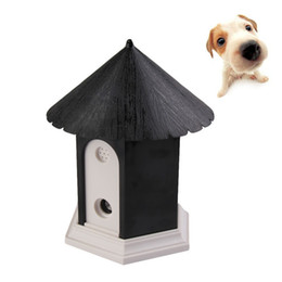 Wholesale Ultrasonic Outdoor Bark Control - Hot sale Pet Products Puppy Outdoor Ultrasonic Anti Barking Control Birdhouse Bark Stop Sonic Dog Supplies Trainings