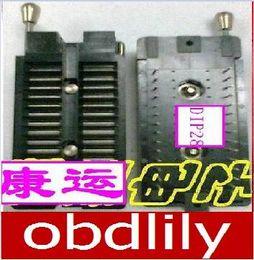 Wholesale Ic Sockets Pin - 100% new original programmer IC test socket ARIES DIP28P pin locking seat