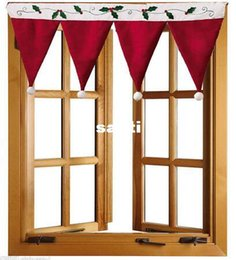 Wholesale Curtain Cloths - New Arrive Christmas Door Window Drape Curtain Decorative Indoor Home Decoration
