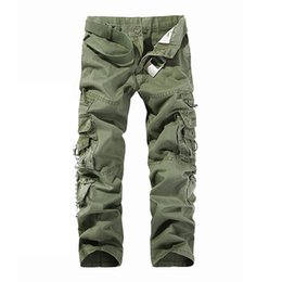 Wholesale Outdoor Sports Tooling - In 2016 Camouflage trousers Free shipping popular male cotton multi pocket tooling male outdoor sports and leisure loose camouflage trousers