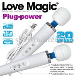 Wholesale Woman Masturbating Adult Toys - 20 speeds magic wand vibrator, new magic wand massager for women masturbate and body massage, adult toy free shipping