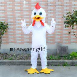 Wholesale Custom Chicken Costume - 2017 white chicken mascot costume and lovely cartoon costume factory custom private custom items Christmas Halloween