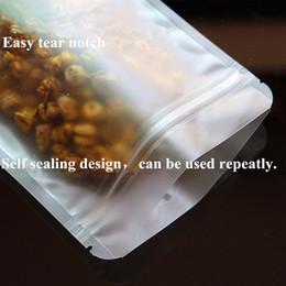 Livraison gratuite Épaissir la taille 12 * 20cm givré sacs en plastique plats transparents pour noix, collations, sacs d'emballage en biscuit ? partir de fabricateur