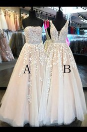 Wholesale Sexy Fasion - 2018 Hot Fasion Two Style Fairy Wedding Dresses Bridal Gowns A Line Floor length With Lace Appliques 2016 Wedding Gowns