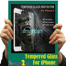 Wholesale Gorilla Glass Screen - 1pcs Free Shipping For iphone 7 4.7 inch Ultrathin Gorilla 9H 2.5D Tempered Glass Explosion-proof screen protector for iPhone 6 S6 S5 Note 5