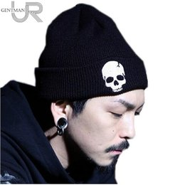 Wholesale Selling Knitted Hats - Hot Selling Unisex Acrylic Knit Hat Winter Hats Skull Style Skullies & Beanies For Woman And Man 3 Colors Warm Winter Cap