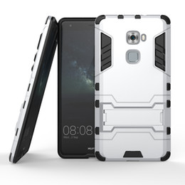 Wholesale Cell Phone Hard Case Clip - Kickstand Heavy Duty 2 in 1 PC + TPU Hybrid Armor Hard Case Cover For Huawei Mate 7 S 7s Hybrid Cell Phone Cases