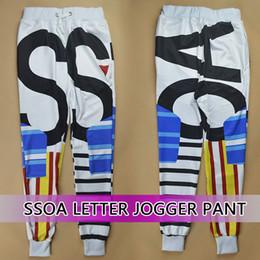 Wholesale Cargo Pants For Boys - Raisevern 2014 SSOA letter geometric printed joggers for women men girl boy sweatpant sport skinny pants long cargo trousers FG1510