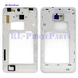 Wholesale Galaxy S2 Housing Bezel - DHL 100pcs lot LCD Middle Plate Housing Frame Bezel Camera Cover For Samsung Galaxy S2 I9100 (black&white)
