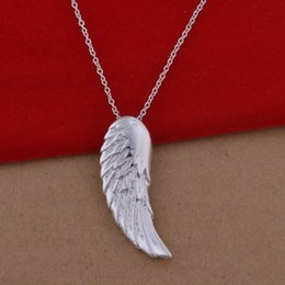 Wholesale Korean Wing Jewelry - 925 sterling silver necklace Korean version of the popular angel wings necklace jewelry wholesale trade large spot