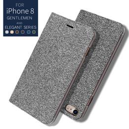 Wholesale Plastic Pouch Designs - LEEU DESIGN cowboy leather wallet flip cover leather case with card slot kickstand for iphone x 8 7 6 plus note8 s8 s9 plus s7 edge A8 2018