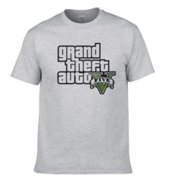 Wholesale Red Shirts Game - 2018 summer new PS4 game GTA 5 t-shirt Grand Theft Auto Cotton short sleeve shirt