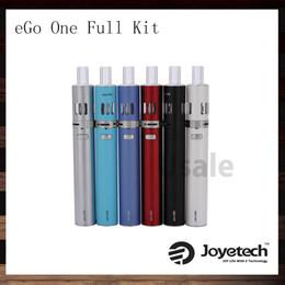 Wholesale Ego Ecigarette Starter Kit - Joyetech eGo ONE Starter Kit with 1100mah 2200mAh Passthrough Battery 1.8ml 2.5ml Ego One Kit Adjustable Airflow Ecigarette 100% Original
