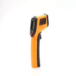 Wholesale Laser Infrared Digital Temperature - US Stock! LCD IR Digital Infrared Thermometer Non-Contact Industrial Handheld Temperature Laser Gun Pointers -50-330'C GM320