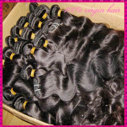 Wholesale Virgin Hair Usa - 5 Kilo 50 Bundles only Top Quality 8A Raw Unprocessed Virgin Hair Wavy Natural Colors Can be Dyed Silky Texture Ship to USA,CA,UK ect.