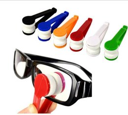Wholesale Spectacle Cleaning - Sun Glasses Eyeglass Microfiber Brush Cleaner Spectacles Cleaner Wiper Wipe Kit Random Color 500pcs multi color YYA863