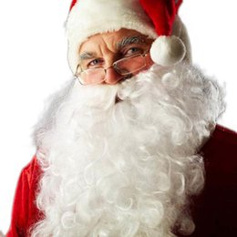 Wholesale Santa Fancy Dress - Creative 2016 Fashional Christmas Beard Decoration Santa Claus White Beard Christmas Fancy Dress Costume Supplies Beard party decoration