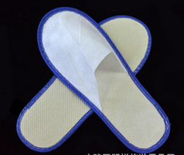 Wholesale Disposable Flats - Cheapest nice quality soft one-time slippers disposable shoe home white sandals hotel babouche travel shoes SL001