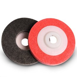 Wholesale grinding abrasive wheel - 100mm Fiber Wheel Polishing Abrasive Nylon Non-woven For Manual and Automatic Grinding Strong Cutting Force 100pcs lot
