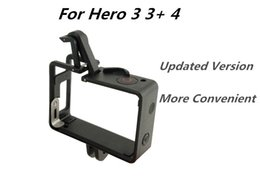 Wholesale Gopro Frame Mount - New Extended Border Side Standard Frame Protector Double Duty Door Housing Mount for Gopro Hero 3 3+ 4