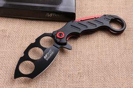 Acciaio freddo 219 Knuckle Duster coltello da tasca pieghevole lama 7CR17Mov Lama in alluminio Maniglia caccia tattico da campeggio coltelli con vendita al dettaglio bo da coltello a farfalla fornitori