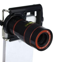 Wholesale Iphone5 Telescope Camera - 2015 8 x Zoom Telescope for iPhone Universal Mobile Phone Lens Camera with Holder for iPhone5 5S 5C Samsung Galaxy HTC Nokia A5
