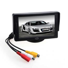 Carro tft dvd on-line-Novo carro 4.3 'TFT LCD Color Rearview Monitor para DVD GPS câmera de backup reversa