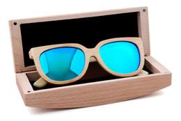 2019 cajas de madera para el envío Casos de gafas de moda Gafas de sol de haya natural de bambú Caja de gafas de sol de madera Caja 17.3 * 6.5 * 5.5CM ENVÍO GRATIS cajas de madera para el envío baratos