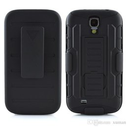 Wholesale Shell Holster S4 - Shockproof Case For Samsung Galaxy S4 Hybrid Case Cover Belt Clip Holster Shell Combo Stand Heavy Duty Case