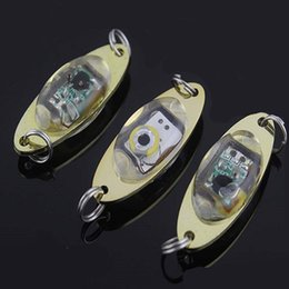 Wholesale Saltwater Led Lights - LED Deep Drop Underwater Eye Shape Fishing Squid Fish Lure Light Flashing Lamp