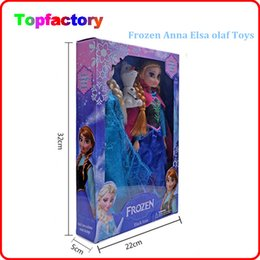 Wholesale Wholesale Christmas Present - Wholesale Christmas Present Frozen Anna Elsa olaf Toys Princess dolls 11 Inch Nice Gift For Kids Girls free dhl shipping children gift