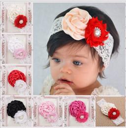 Canada Gros Infant Fleur Bandeaux Fille Dentelle Chapeaux Enfants Bébé Photographie Props Offre