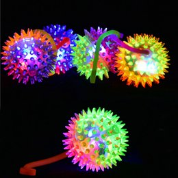 Wholesale Fun Exercises - Light Up Spiky Baby Toys LED Flashing Bounce Exercise Finger Playing Fun Games Baby Finger Toys