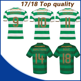 Wholesale Polyester Short Sleeve Shirts - 17 18 Home Soccer Jersey Away Short sleeve soccer shirt Celtic Griffiths dembele Sinclair Rogic McGregor Roberts Forrest Jersey