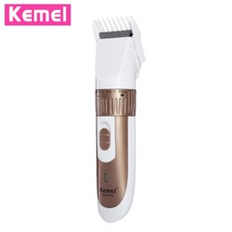Wholesale Electric Hair Cutter Clipper - Professional Electric Hair Clipper EU Plug Rechargeable Trimmer Cutting Machine Shaver Cutter Styling Kit for Men