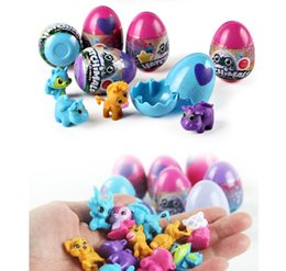 Wholesale Educational Egg - Creative 4Pcs set Upgrade Hatchimals 4 Colors Hatching Egg with 12 Styles Dolls Big Surprise Christmas Gifts for Kids